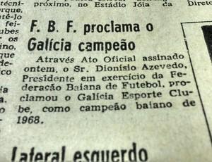 galicia campeonato baiano (Foto: reprodução/arquivo/jornal a tarde)