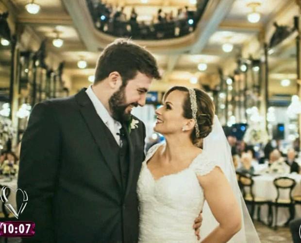 Duda Little e Rodrigo se casaram no sábado (25/4) (Foto: Mais Você/TV Globo)
