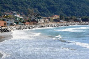 Praia da Armação aguarda revitalização da orla  (Foto: Divulgação/Sergio Aspar )
