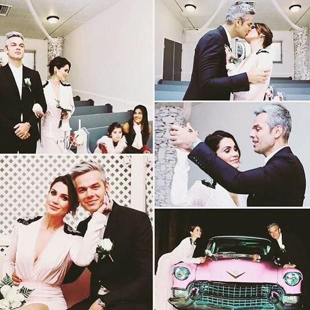 Flavia Alessandra e Otaviano se casam em Las Vegas (Foto: Reprodução / Instagram)