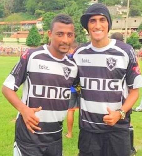 Elias e Rafael marques jogo beneficente (Foto: Arquivo Pessoal)