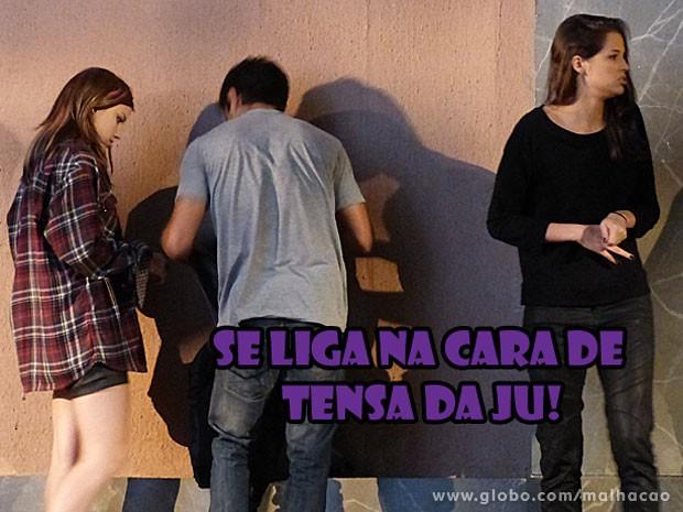 Olha a cara de assustada da Ju, glr! Tadinha, né? (Foto: Malhação / Tv Globo)