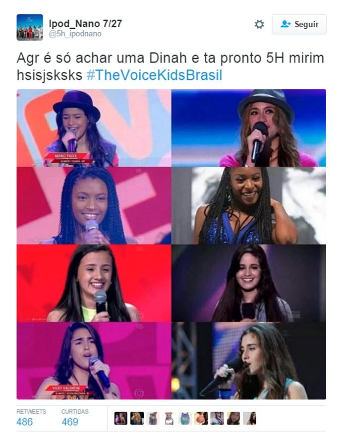 Comparativo The Voice Kids x Fifth Harmony (Foto: Reprodução/Redes Sociais)