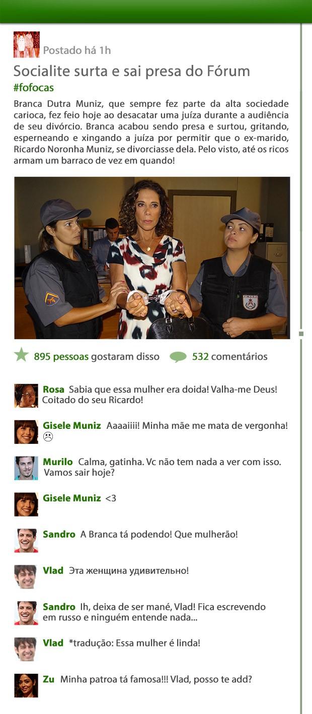 Branca é presa (Foto: Em Família/ TV Globo)