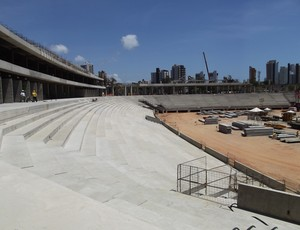 Construção do anel inferior da Arena das Dunas, em Natal, é concluído (Foto: Jocaff Souza)