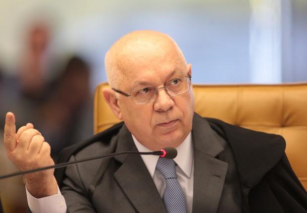 O ministro do Supremo Tribunal Federal (STF), Teori Zavascki durante sessão da Casa (Foto: Nelson Jr./SCO/STF)