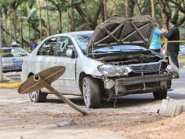 Motorista atropelou quatro pessoas na manhã deste sábado (16), na USP (Foto: Marco Ambrósio/ Estadão Conteúdo)