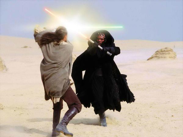 Ray Park como Darth Maul em 'Star Wars: Episódio I' (1999) (Foto: Reprodução)
