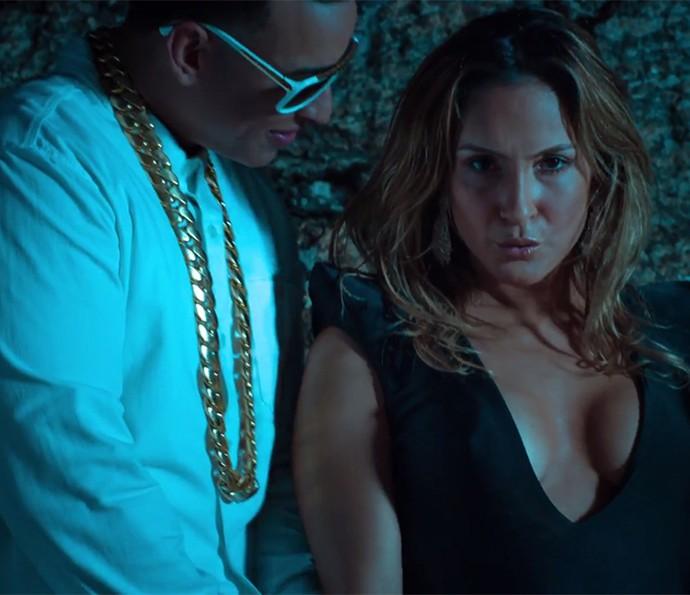 Esta é a primeira parceria de Claudia Leitte com o rapper Daddy Yankee (Foto: Reprodução)