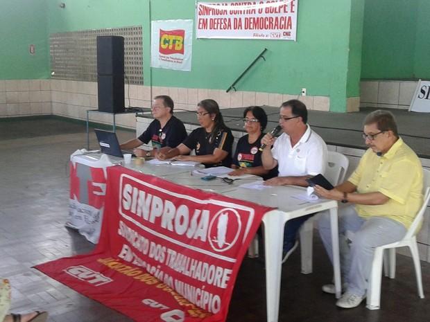 Sindicato dos Professores de Jaboatão em greve (Foto: Divulgação)