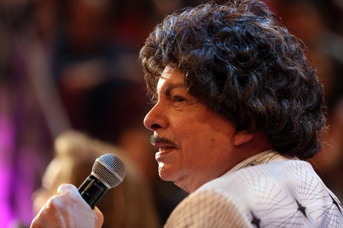 Cauby Peixoto participa do programa 'Altas Horas' (Foto: Carol Caminha/Gshow)