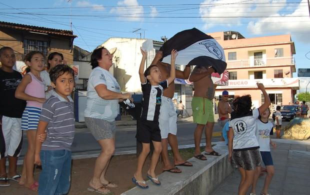 Carreata torcida do Treze em Campina Grande (Foto: David Henrique / TV Paraíba)