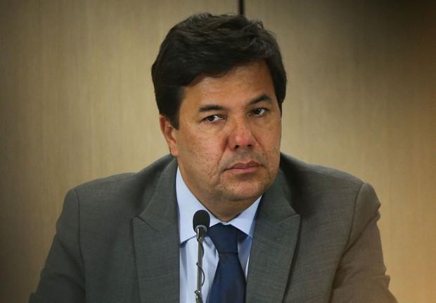 O ministro da Educação, Mendonça Filho, durante apresentação do balanço  do Enem (Foto: Marcelo Camargo/Agência Brasil)