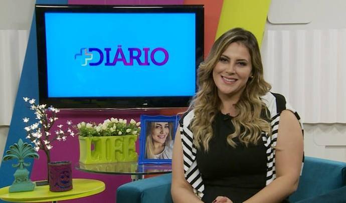 Jessica Leão na apresentação do 'Mais Diário' deste sábado (26) (Foto: Reprodução / TV Diário )