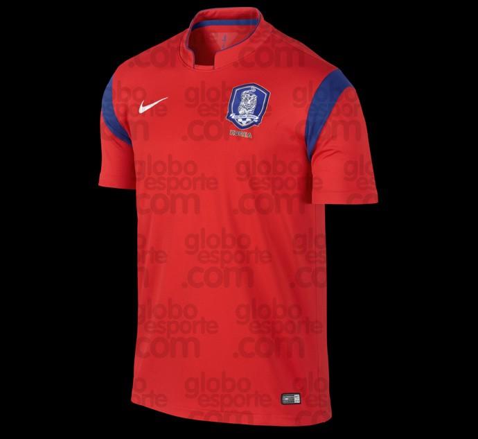 Camisa Coreia do Sul copa do mundo 2014