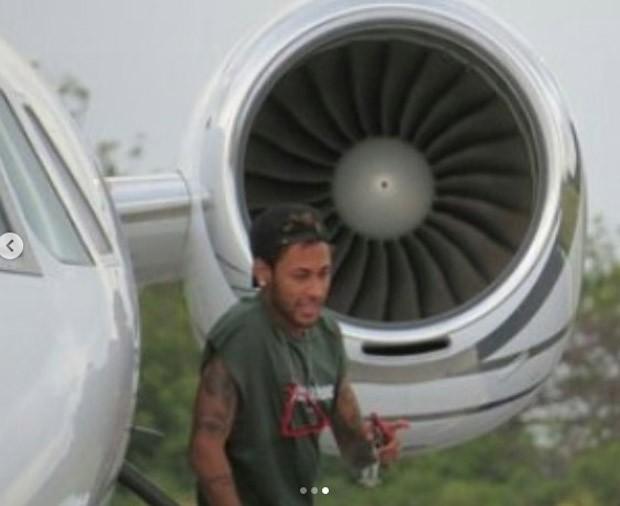 Neymar chega a Noronha para Revéillon (Foto: Reprodução/Instagram)