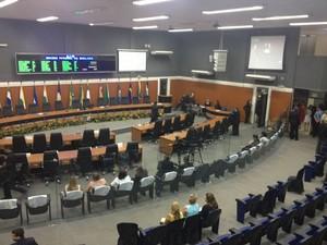 A cerimônia de posse da governadora eleita em Roraima, Suely Campos (PP), está prevista para às 16h (horário local), na Assembleia Legislativa de Roraima, em Boa Vista (Foto: Emily Costa/G1)