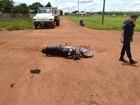 Motociclista sofre fratura exposta ao colidir com caçamba em Rondônia