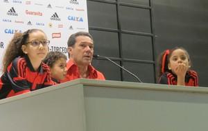Luxemburgo coletiva Flamengo (Foto: Thales Soares)