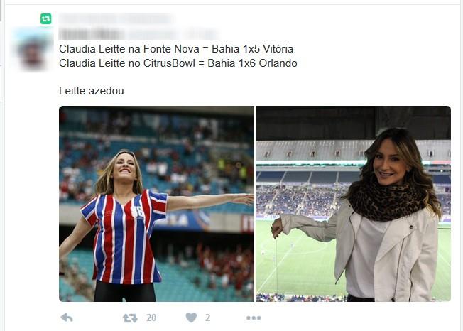 Bahia; Orlando City; Claudia Leitte (Foto: Reprodução)