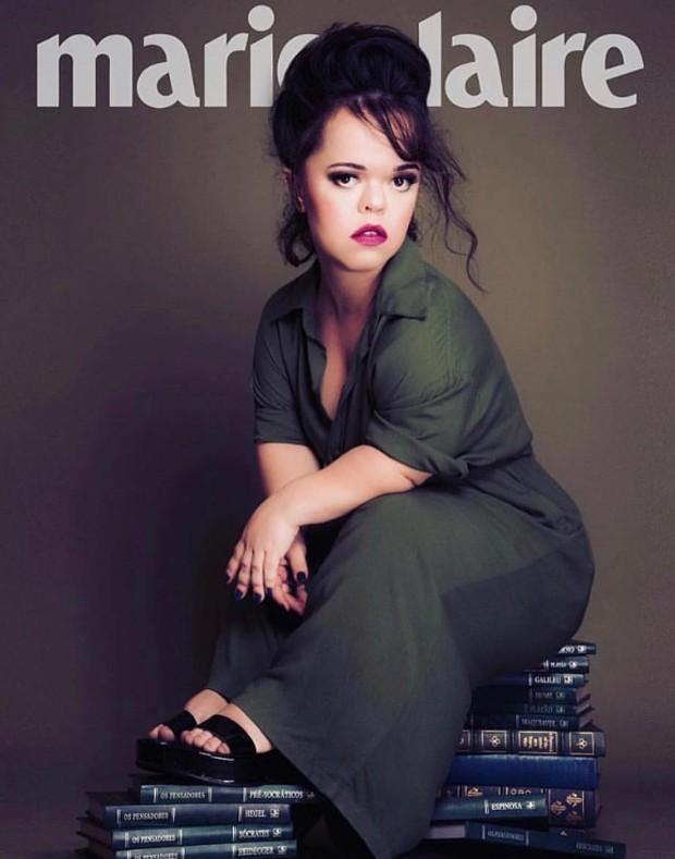 O fotógrafo Pino Gomes fez a montagem com a atriz na capa de Marie Claire  (Foto: Reprodução Instagram)
