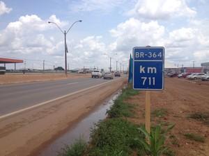 BR-364 é a que mais registra acidentes em RO (Foto: Ísis Capistrano/ G1)