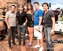 Paula Fernandes encontra Chitãozinho, Xororó, Bruno e Marrone (Foto: TV Globo/Altas Horas)