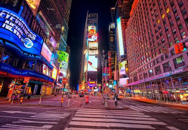 Times Square, em Nova York: segredos que os turistas ignoram porque estão ocupados demais em fazer fotos (Foto: Dimitrios Kambouris/Getty Images)
