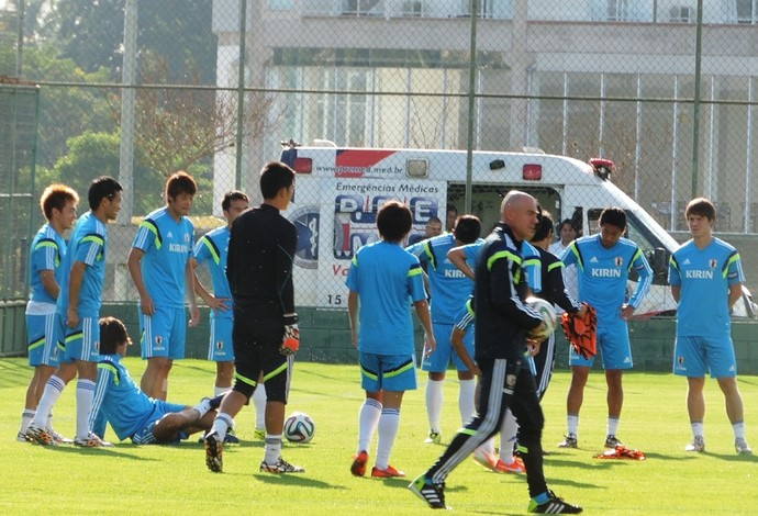 Japão treino  (Foto: Fernando Cesarotti)