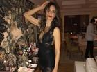 Luciana Gimenez usa look ousado para comemorar aniversário