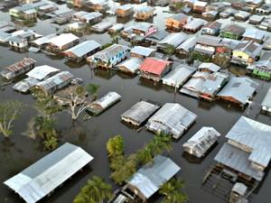 Cheia atingiu todas as zonas da cidade de Anamã  (Foto: Prefeitura de Anamã)