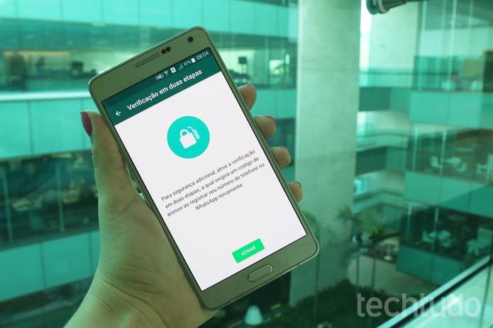 [marca] WhatsApp verificação em duas etapas (Foto: Aline Batista/TechTudo)