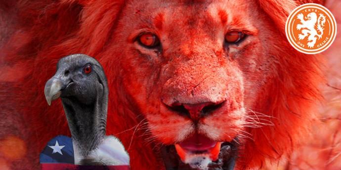 Leão laranja f