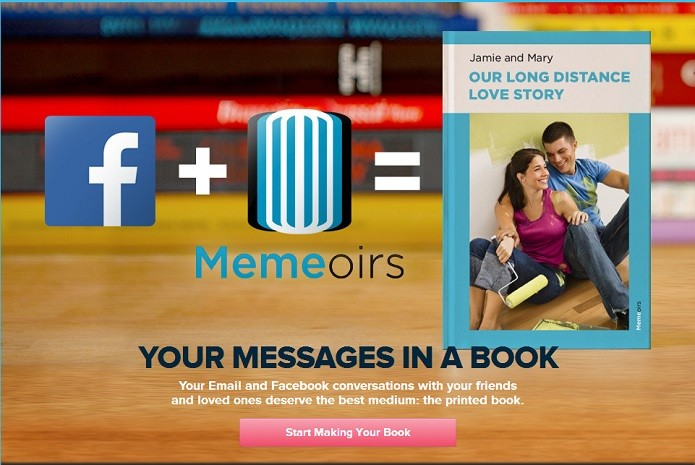 Serviço permite quais usuários usar no livro (Reprodução/Memoirs)