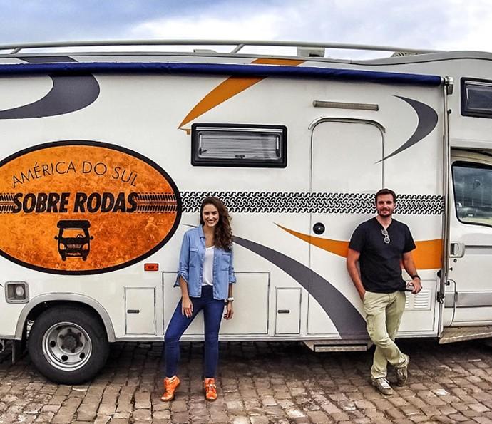Amanda Richter planejou toda a viagem em um motorhome (Foto: Arquivo Pessoal)