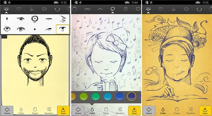 Uface é um aplicativo para Windows Phone que faz caricaturas ao estilo mangá (Foto: Divulgação/Windows Phone Store)