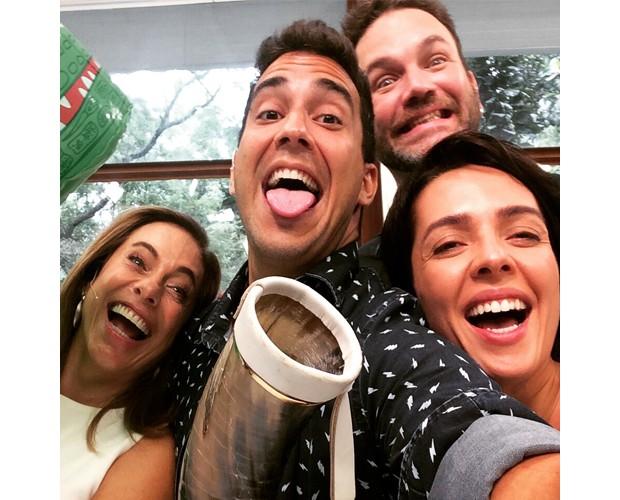 Quarteto faz a festa no Mais Você (Foto: Mais Você/TV Globo)