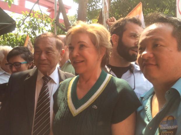 Marta visitou o bairro da Liberdade nesta quarta-feira (Foto: Cinthia Toledo/TV Globo)
