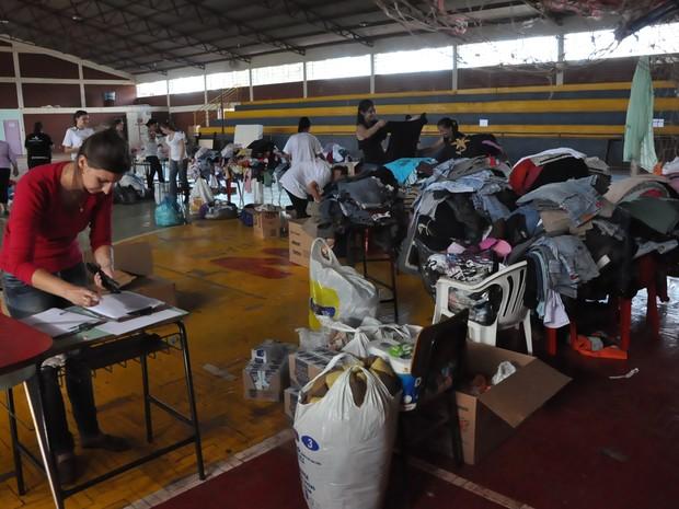 Famílias de Tapejara (RS) precisam de doações de alimentos e agasalhos (Foto: Suelen Defaveri/Divulgação)