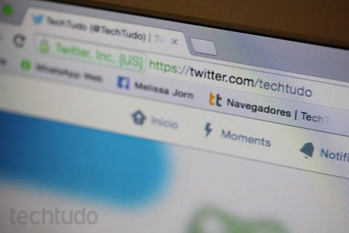 Como publicar tuíte na barra de endereços do Google Chrome (Foto: Melissa Cruz / TechTudo)