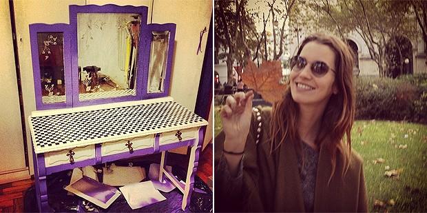Nathalia Dill mostra que sabe dar cara nova a móveis antigos (Foto: Reprodução/Instagram)
