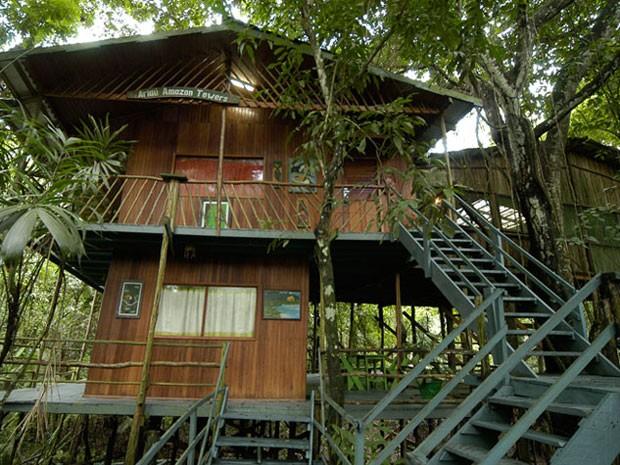 Casa na árvore do hotel Ariaú Towers, na Amazônia (Foto: Divulgação/Ariaú)