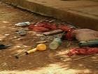 Trio tenta assalto, mata caseiro, mas colegas matam 2 suspeitos (Reprodução/TV Anhanguera)