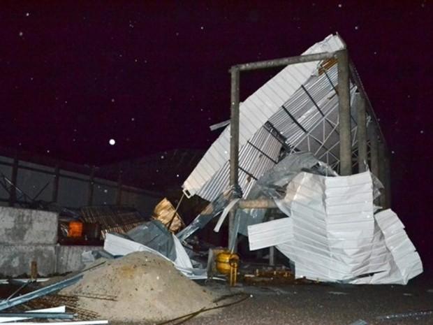Em 1987, um tornado atingiu o município de São Joaquim (Foto: Michel Linha/São Joaquim Online)