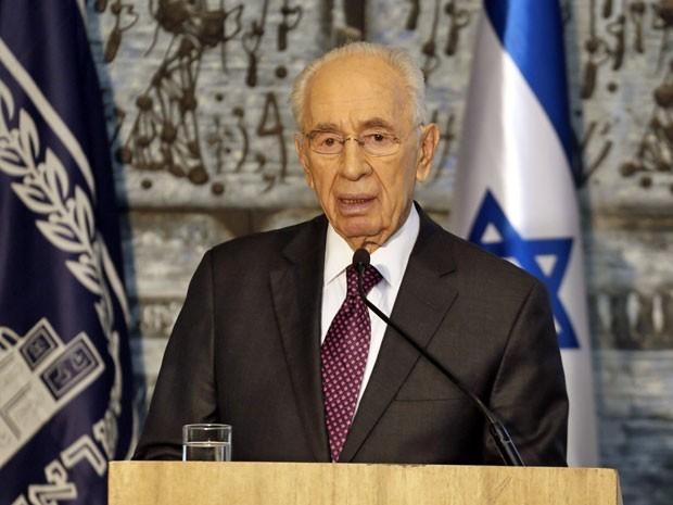 O presidente israelense, Shimon Peres, em entrevista coletiva na quarta-feira (24)  (Foto: Gali Tibbon/ AFP)