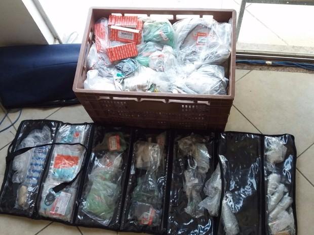 Peças de moto estão avaliadas em R$ 15 mil, suspeito confessou roubo. (Foto: Divulgação/ Polícia Civil)
