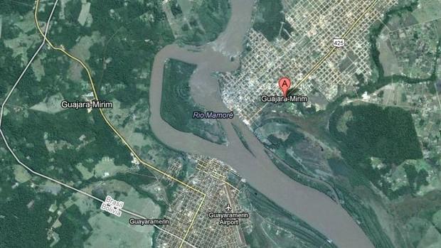 Guajará-Mirim, Rondônia, fronteira com a Bolívia (Foto: Google Maps)