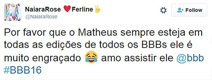 Matheus conquista fãs  (Foto: Reprodução Internet)