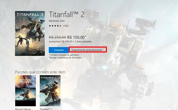 Titanfall 2 está sendo vendido com preço reduzido para Xbox One (Foto: Reprodução/Felipe Demartini)