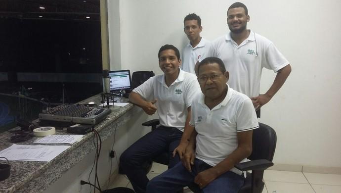 Equipe do GloboEsporte.com (Foto: Humberto Moreira/Arquivo Pessoal)